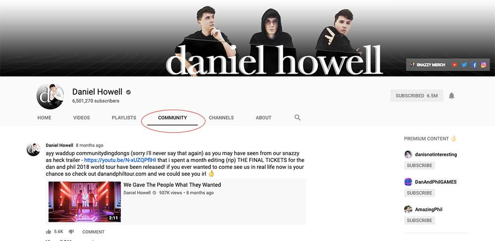 YouTube Community Posts - Dan Howell