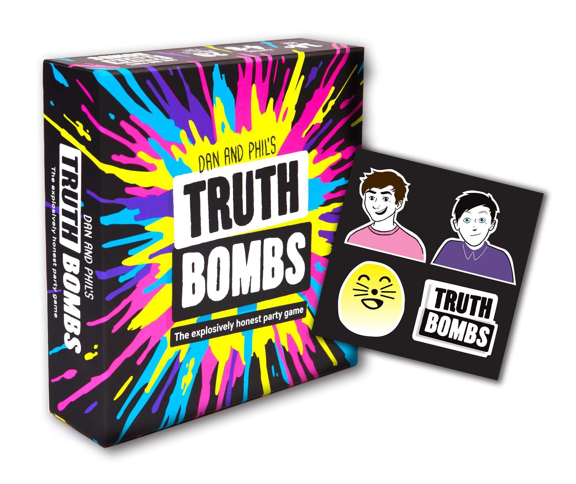 youtuber merchandise, dan and phil, truth bombs, board game