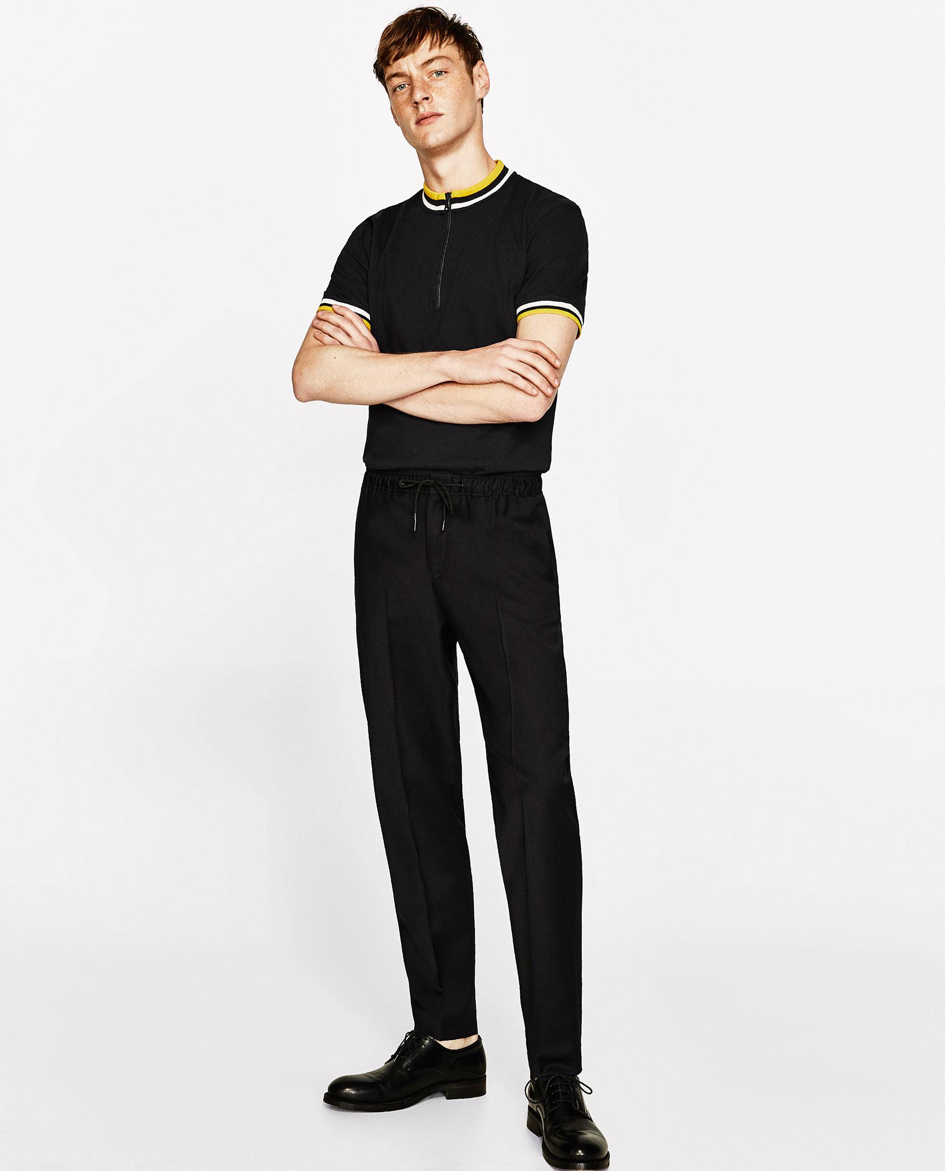 zara polo shirt and joggers - embroidered polo shirts
